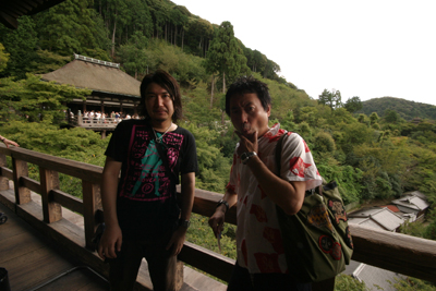ツアー中の清水寺の舞台_f0196753_4104520.jpg