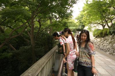 ツアー中の清水寺の舞台_f0196753_4105896.jpg