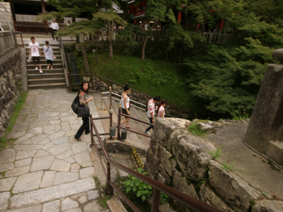 ツアー中の清水寺の舞台_f0196753_4111615.jpg
