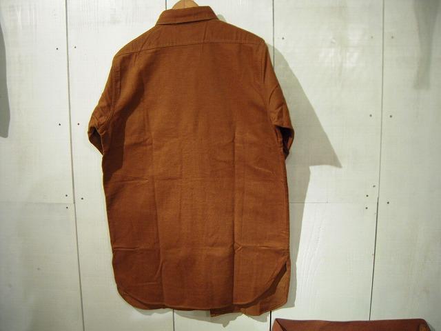 コットンフランネルワークシャツ♪_d0121303_19452851.jpg