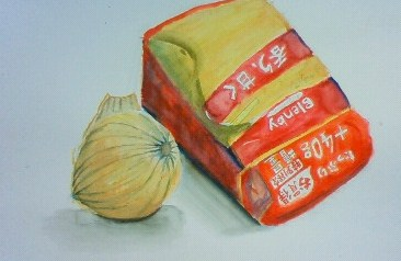 玉ねぎとコーヒー豆の袋_b0187423_12383052.jpg