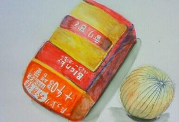 玉ねぎとコーヒー豆の袋_b0187423_12391282.jpg