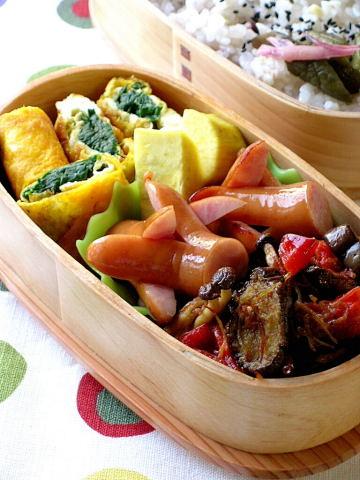 じゃこと干し野菜のカレー風味のお弁当_b0171098_9334597.jpg