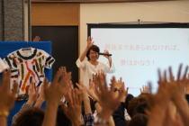 チャリティー「Tシャツ・アート展」2日目~講演「マイナスをプラスに変えて」by玉田さとみ@日本財団_f0006713_618414.jpg