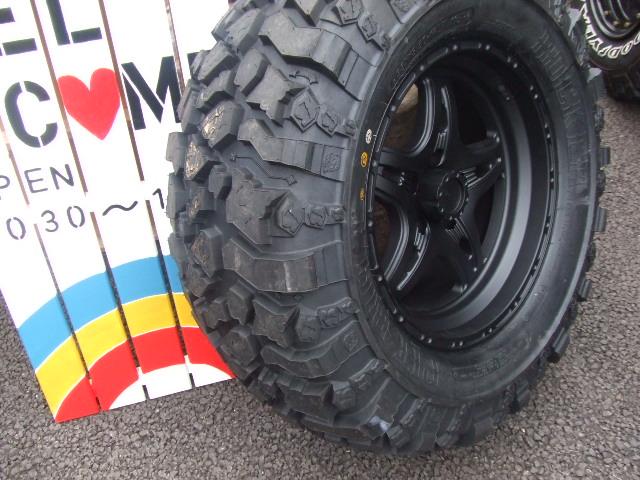 ピットブル タイヤ33×13.5×17&レースライン ホイール レネゲード5 マットブラック 17インチ_b0123820_1613395.jpg