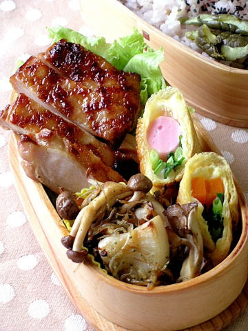 鶏の照り焼き弁当_b0171098_10424931.jpg