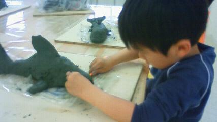 作品展 彫塑で動物_b0187423_16132631.jpg