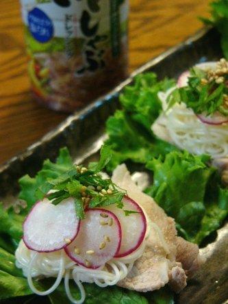 【お肉&野菜】豚しゃぶそうめんサラダ☆豚の甘辛煮♪_c0139375_13533273.jpg