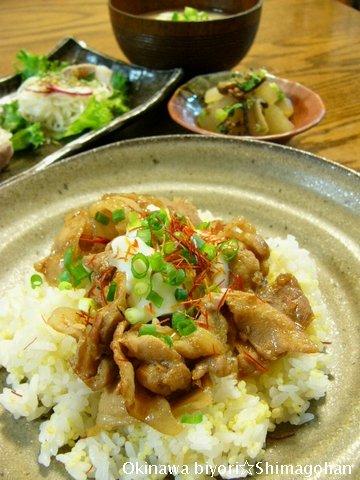 【お肉&野菜】豚しゃぶそうめんサラダ☆豚の甘辛煮♪_c0139375_1356147.jpg