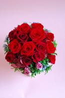 プリザーブドフラワー 真っ赤なバラのコンポートアレンジメント_a0115684_17482528.jpg