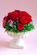 プリザーブドフラワー 真っ赤なバラのコンポートアレンジメント_a0115684_17494268.jpg