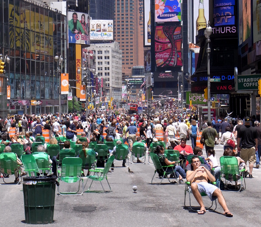 変わらないために、変わり続ける Traffic-Free Broadway in Times Square_b0007805_103548.jpg