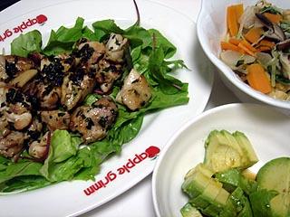 バジルチキンと揚げと水菜の煮浸し_c0025217_002620.jpg