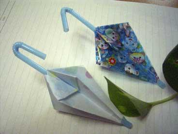 クリスマス 折り紙:折り紙傘の作り方-koubouyume.exblog.jp
