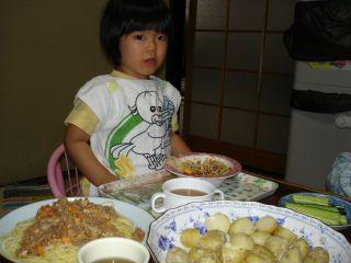 スパゲッティとマコ & お野菜_e0166301_15435789.jpg