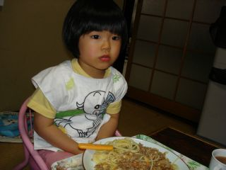 スパゲッティとマコ & お野菜_e0166301_15463336.jpg