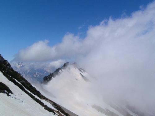 針ノ木岳登山-頂へ_c0177814_10125269.jpg