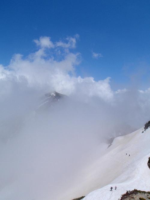 針ノ木岳登山-頂へ_c0177814_10343096.jpg