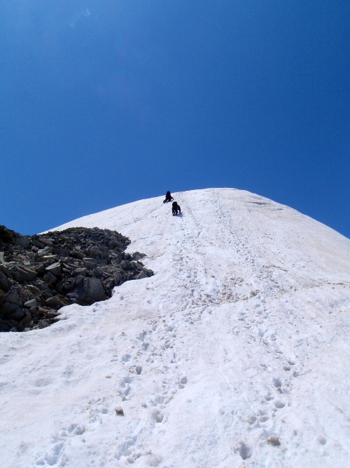 針ノ木岳登山-頂へ_c0177814_10455830.jpg