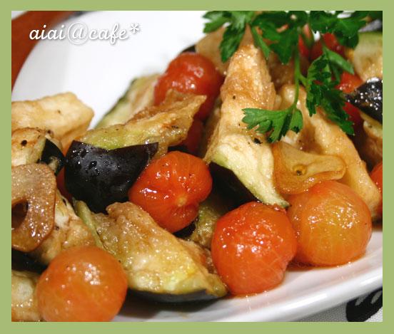 ジュワ〜っと♪水茄子とプチトマトのマリネサラダ_a0056451_11165147.jpg