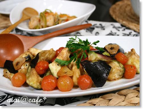 ジュワ〜っと♪水茄子とプチトマトのマリネサラダ_a0056451_11192345.jpg