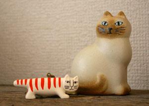 わが家のネコ2匹〜Lisa Larson_f0122107_9474988.jpg