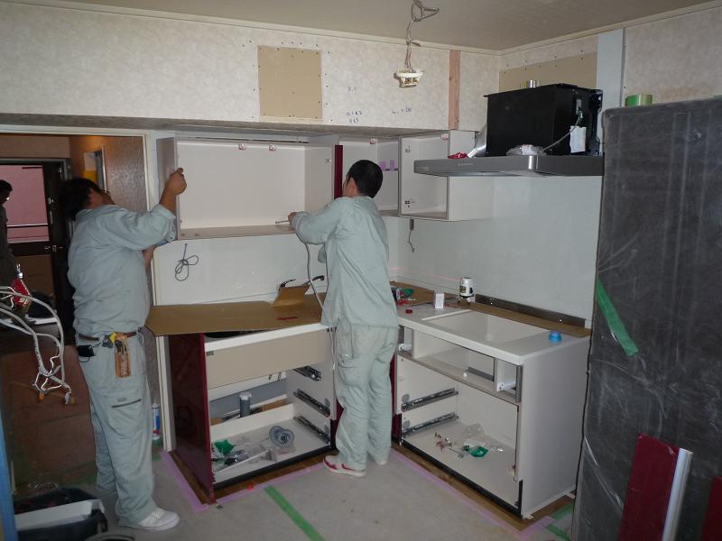 K様邸 システムキッチン施工_b0171510_1414925.jpg