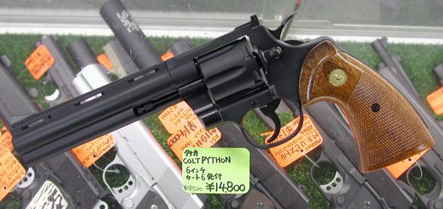 """タナカ モデルガン 三八式歩兵銃 Colt PYTHON 6\"""" 及び S&W K フレーム用グリップ2種 入荷_f0131995_14165962.jpg"""