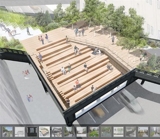 ハイラインの上にできた展望台スペース 10th Avenue Square_b0007805_755581.jpg
