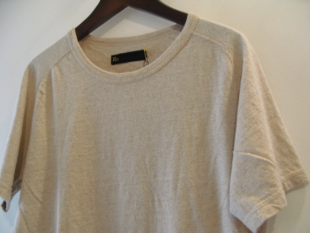 新作『Cotton×Linen Saddle Raglan T-shirt』_e0142928_16552712.jpg