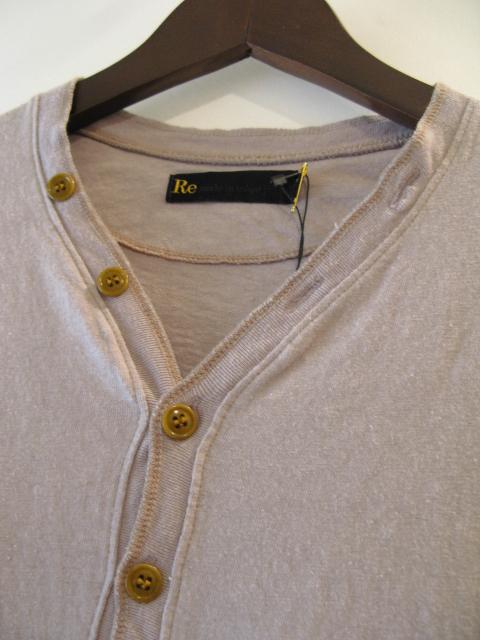 新作『Cotton×Linen Henley Neck Half Sleeve Pullover』_e0142928_17112258.jpg