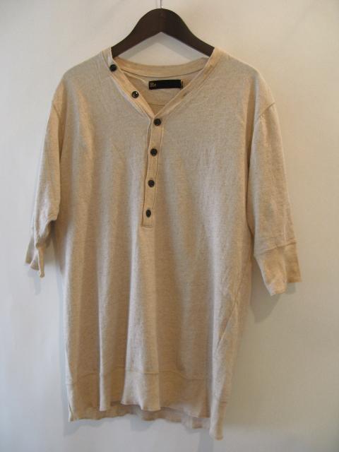 新作『Cotton×Linen Henley Neck Half Sleeve Pullover』_e0142928_171417.jpg