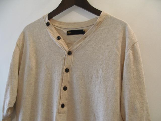 新作『Cotton×Linen Henley Neck Half Sleeve Pullover』_e0142928_178316.jpg