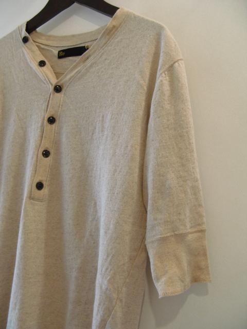 新作『Cotton×Linen Henley Neck Half Sleeve Pullover』_e0142928_1792483.jpg