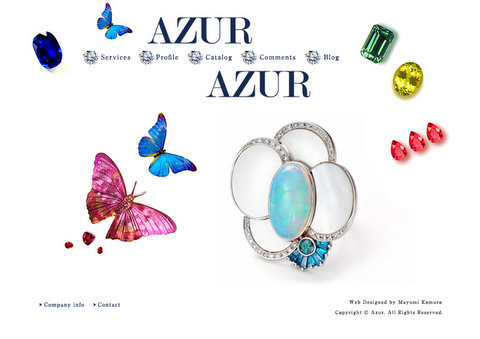 Website Design & Edit 無事完成 - AZUR -_c0138928_21472341.jpg