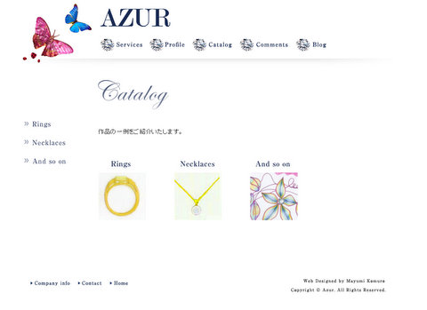 Website Design & Edit 無事完成 - AZUR -_c0138928_21562663.jpg