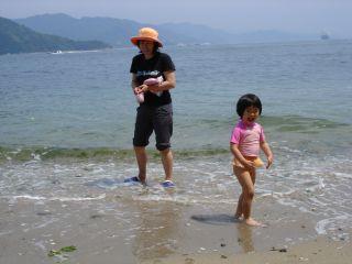 マコと宇品の海に行ってきました。_e0166301_012542.jpg