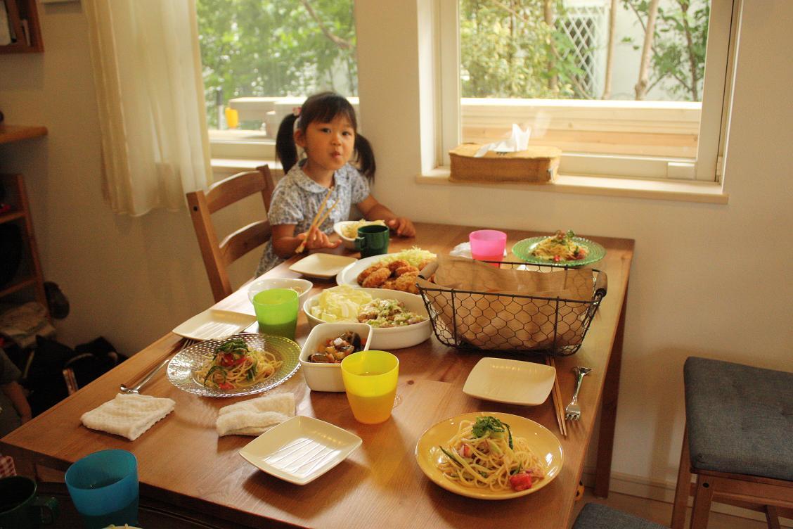 ツナと夏野菜の冷製パスタでおうちカフェ_b0165178_19332379.jpg