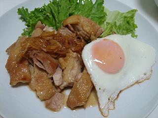 鶏のしょうが焼き_c0025217_23572744.jpg