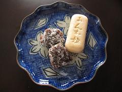 おめざ:あんず菓子とたい焼き_b0189489_22362435.jpg