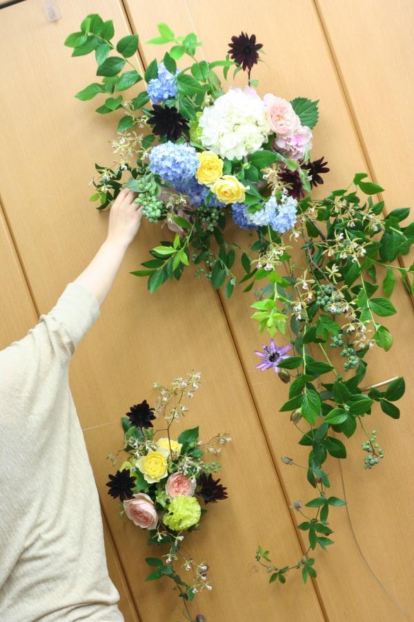 一会レッスン ウエディングコース 結婚式の装花いろいろ_a0042928_20401668.jpg