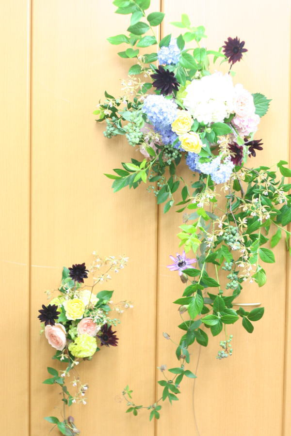 一会レッスン ウエディングコース 結婚式の装花いろいろ_a0042928_2040832.jpg