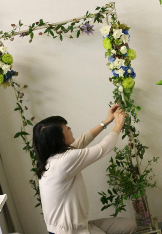 一会レッスン ウエディングコース 結婚式の装花いろいろ_a0042928_20415969.jpg