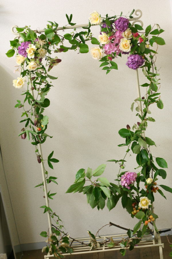 一会レッスン ウエディングコース 結婚式の装花いろいろ_a0042928_20422242.jpg