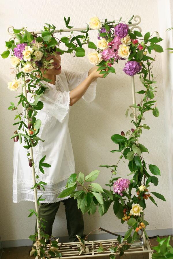 一会レッスン ウエディングコース 結婚式の装花いろいろ_a0042928_2042392.jpg