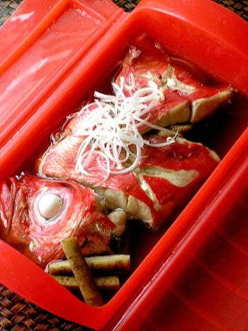 金目鯛の味噌漬け弁当 と 簡単金目鯛の煮付け_b0171098_8325227.jpg