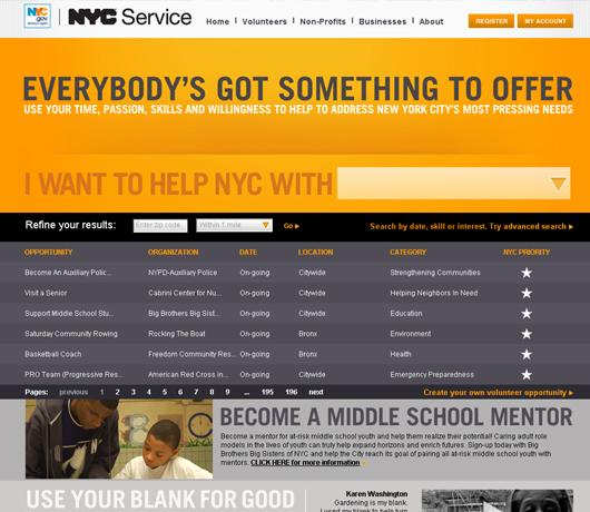 NY市の新しいボランティア募集ポータルサイト NYC Service_b0007805_10453168.jpg