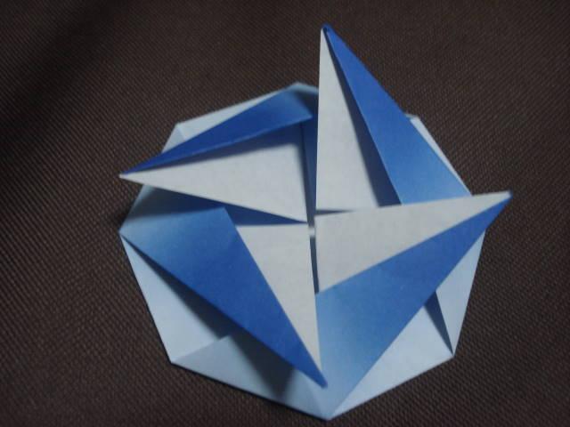 クリスマス 折り紙 こま 折り紙 : aplhiyo.exblog.jp