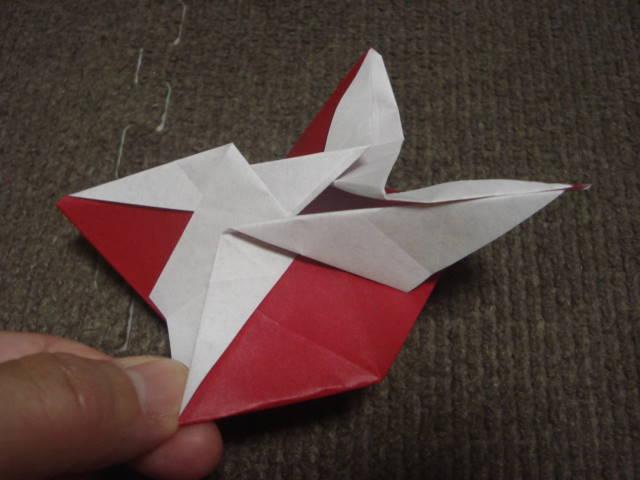 すべての折り紙 折り紙こま一枚 : 紙がこまとして回るためには ...