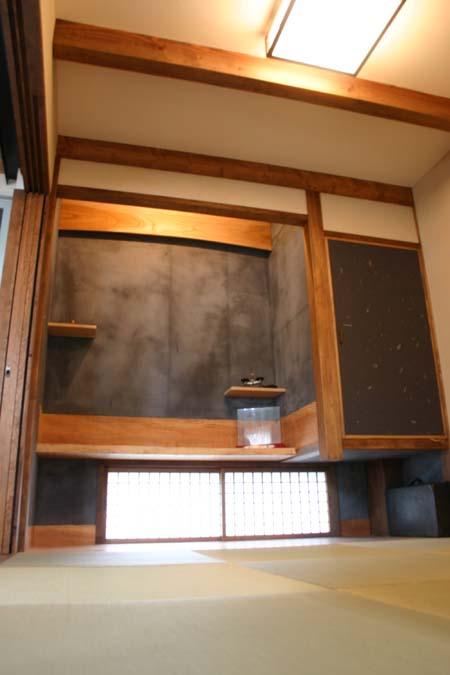 和室の黒壁 珪藻土_e0074935_16321668.jpg
